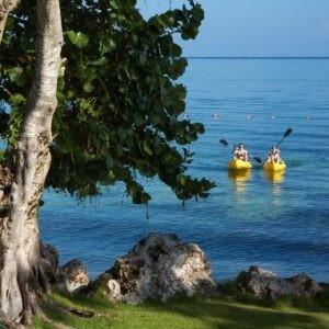 Kayaking view at Llatrissant