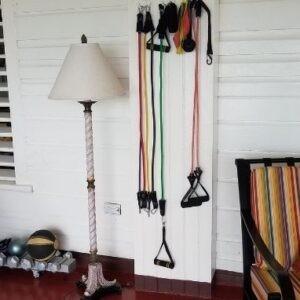 Exercise equipment at Llantrissant