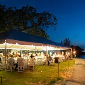 Reception dinner at dusk (1)