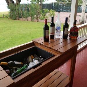 Bar with wine, etc.