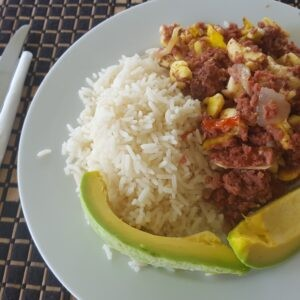 Bully beef and rice