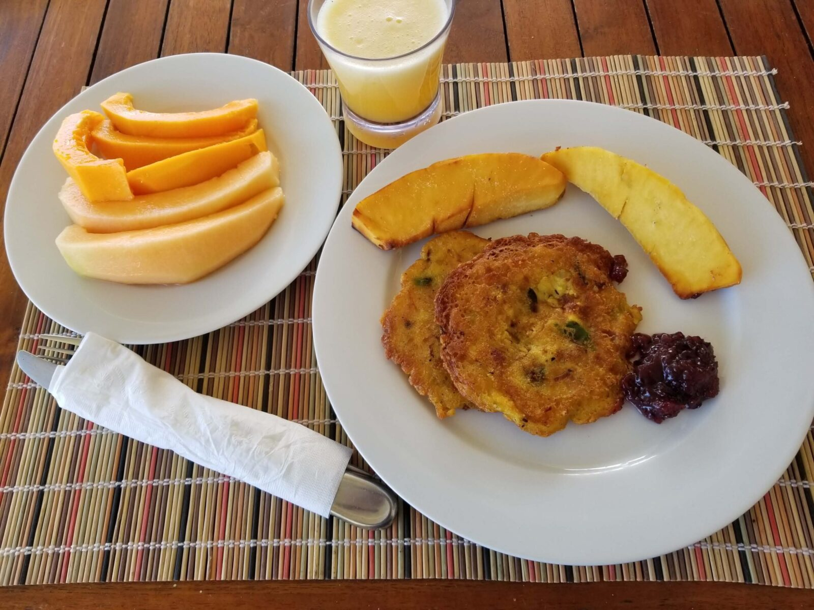 Codfish Fritters with Breadfruit and chutney