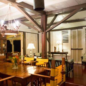 Dining room at night