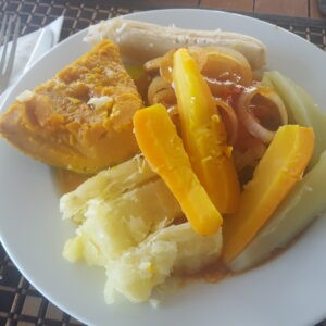 King fish filet with cassava