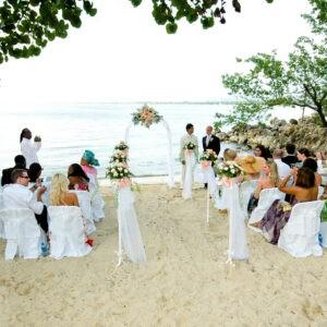 Wedding on the small beach