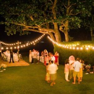 Wedding with stringlights
